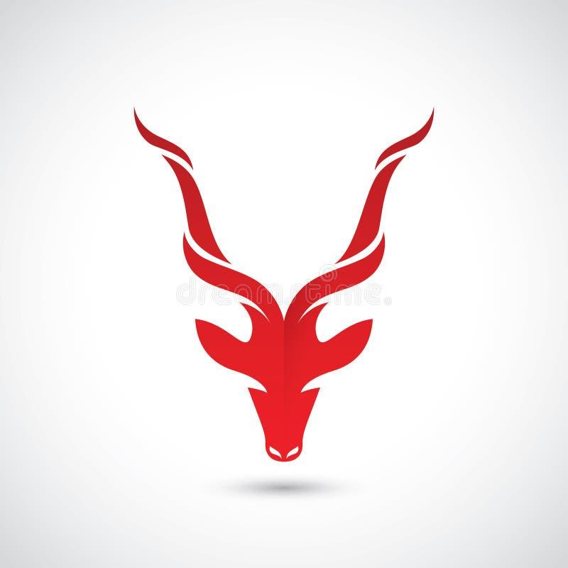 羚羊标志-传染媒介例证 皇族释放例证
