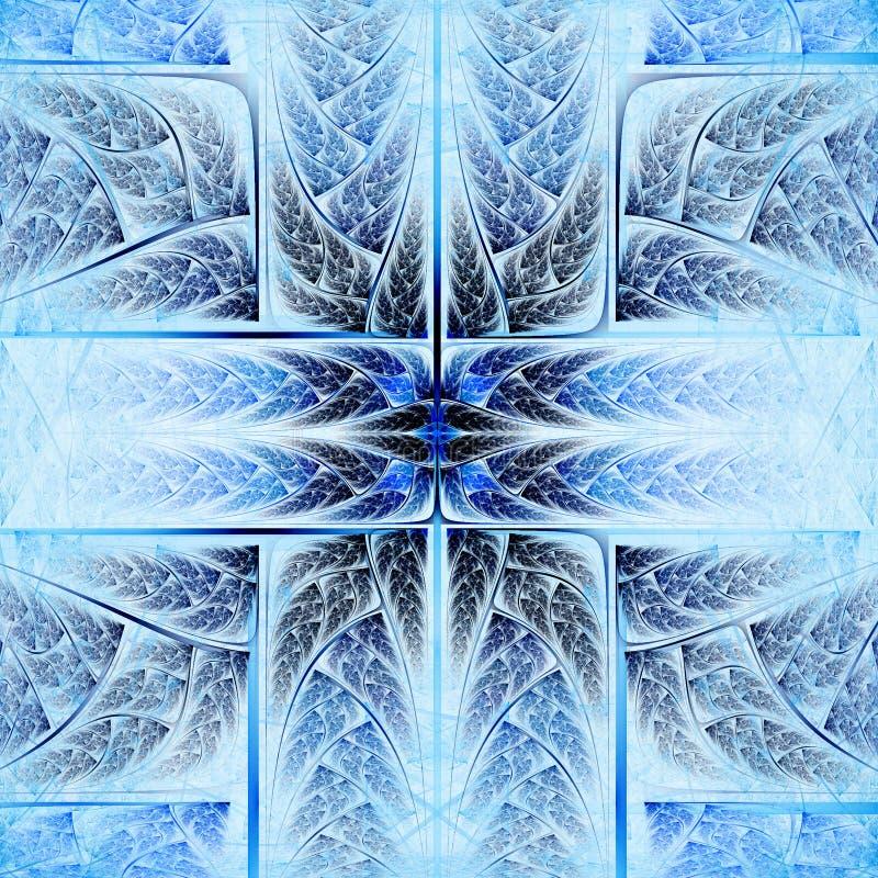 羽毛似蓝色和生动的十字架 向量例证