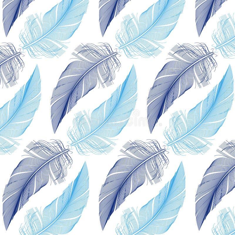 羽毛无缝的样式,传染媒介 皇族释放例证