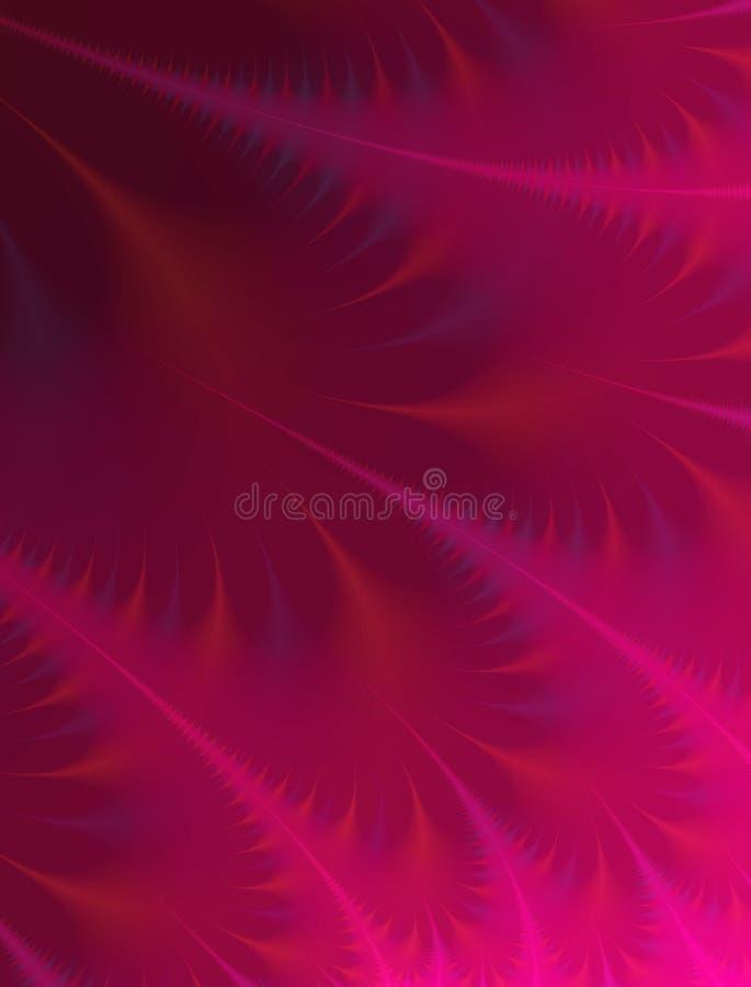羽毛桃红色纹理小捆 皇族释放例证