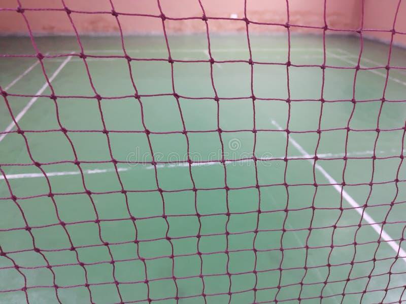 羽毛球网 库存照片