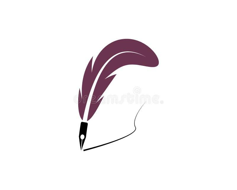 羽毛笔商标模板 皇族释放例证