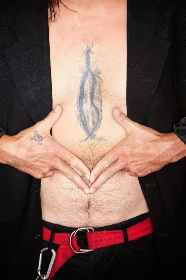 羽毛framin人混合的族种纹身花刺 图库摄影