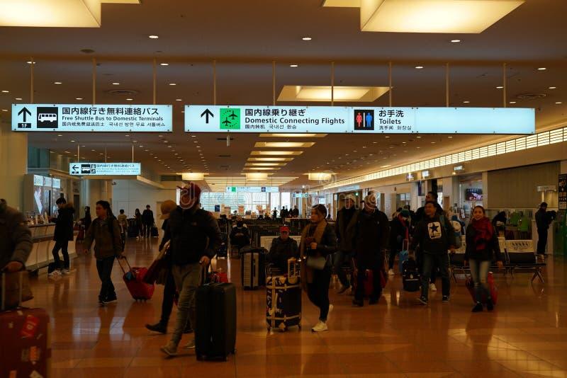 羽田机场到来大厅 免版税库存图片