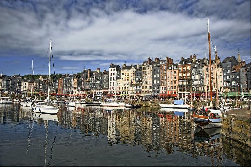 翁夫勒港口在法国 库存照片