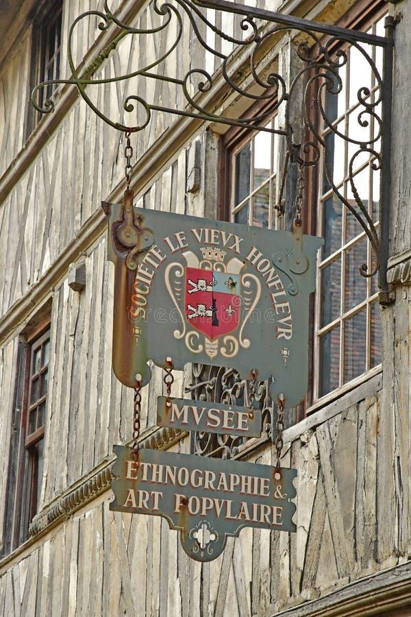 翁夫勒,法国-威严18 2016年:历史博物馆 免版税库存照片