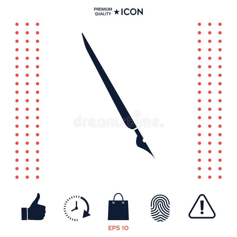 翎毛钢笔,钢笔象 向量例证