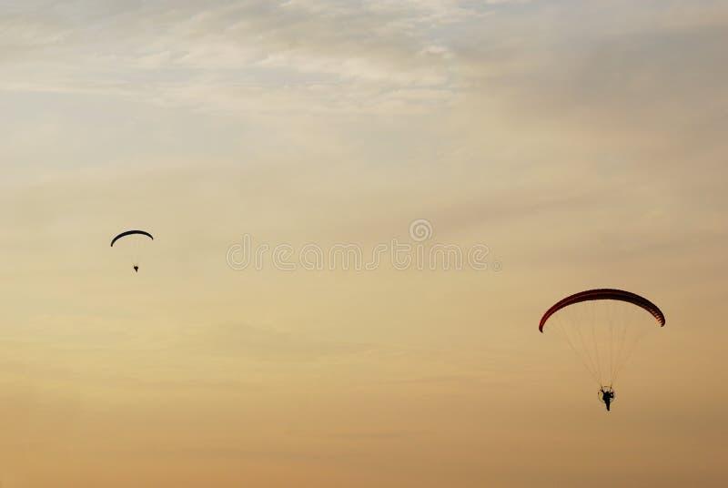滑翔伞二 免版税图库摄影