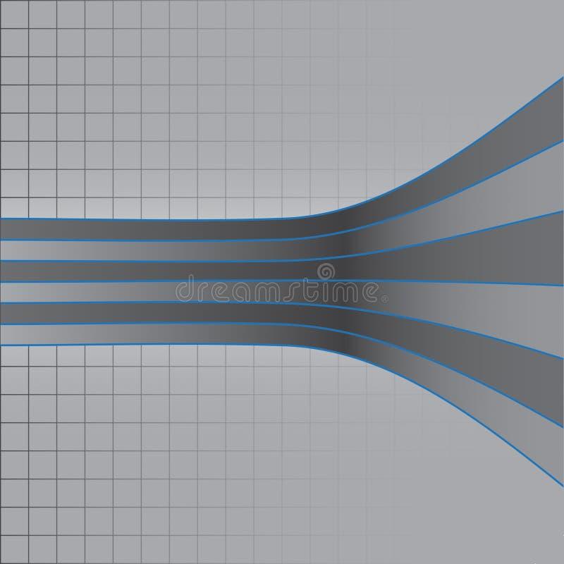 翘曲的被结合的线路 皇族释放例证