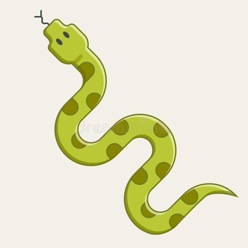 翠青蛇爬行 危险蛇蝎从 库存例证