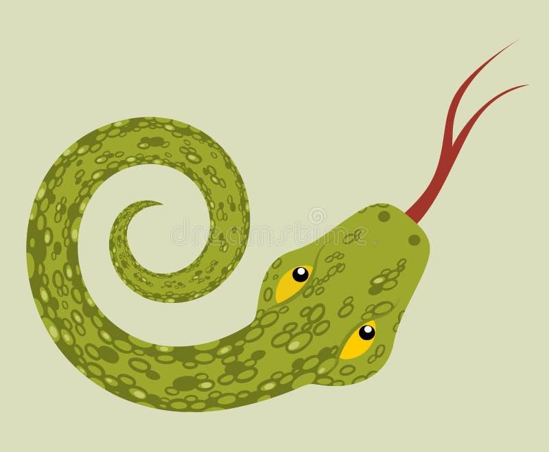 翠青蛇 库存例证