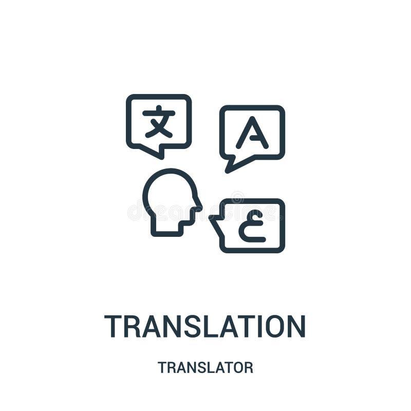 翻译从译者汇集的象传染媒介 稀薄的线翻译概述象传染媒介例证 线性标志为使用 库存例证