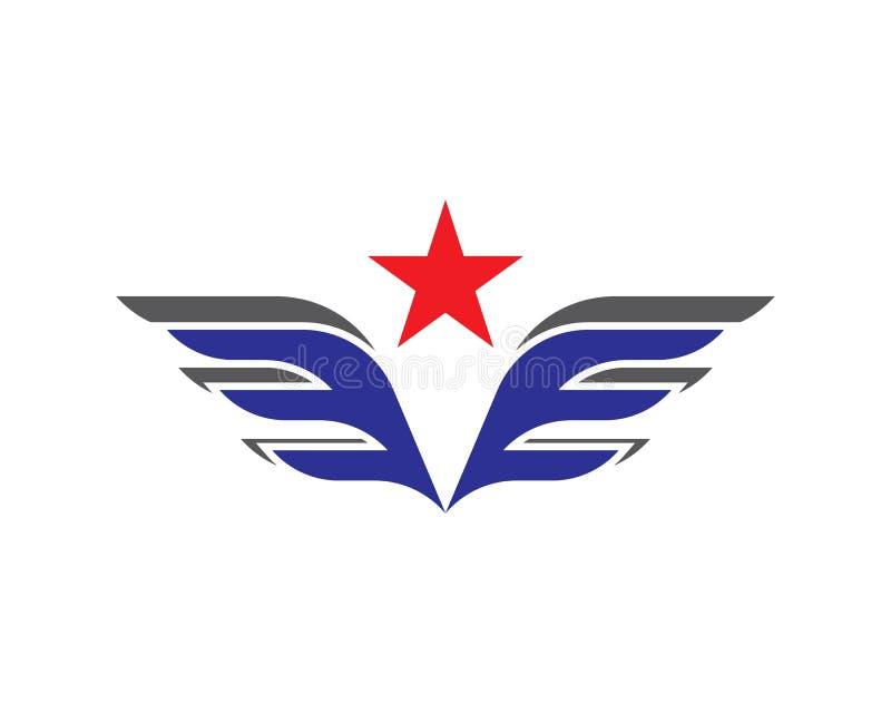 翼商标和标志模板 皇族释放例证