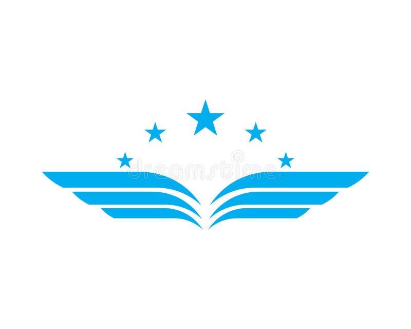 翼商标和标志模板 向量例证