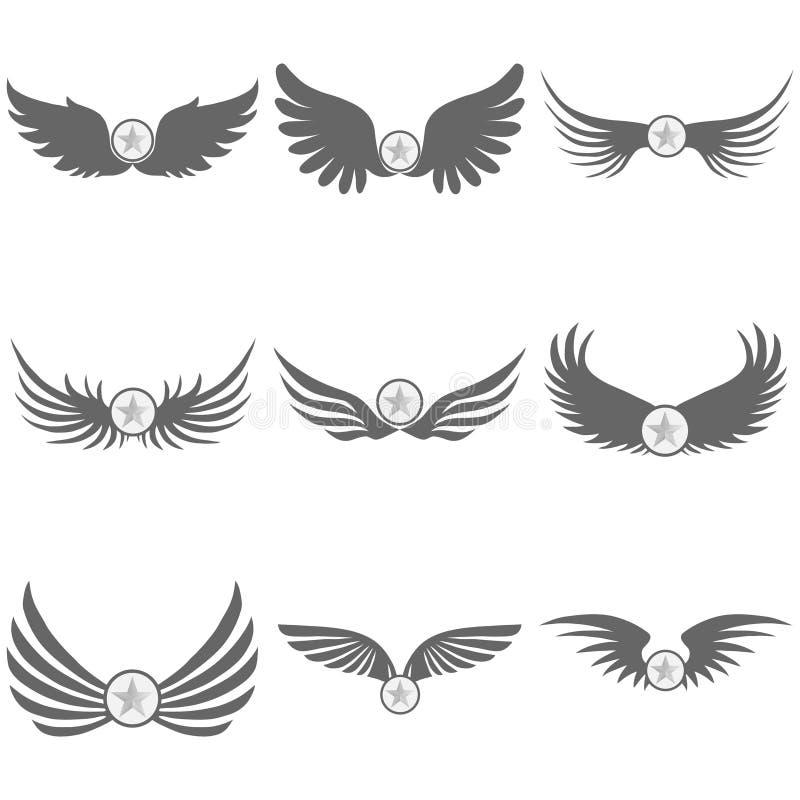 黑翼商标有星的 皇族释放例证