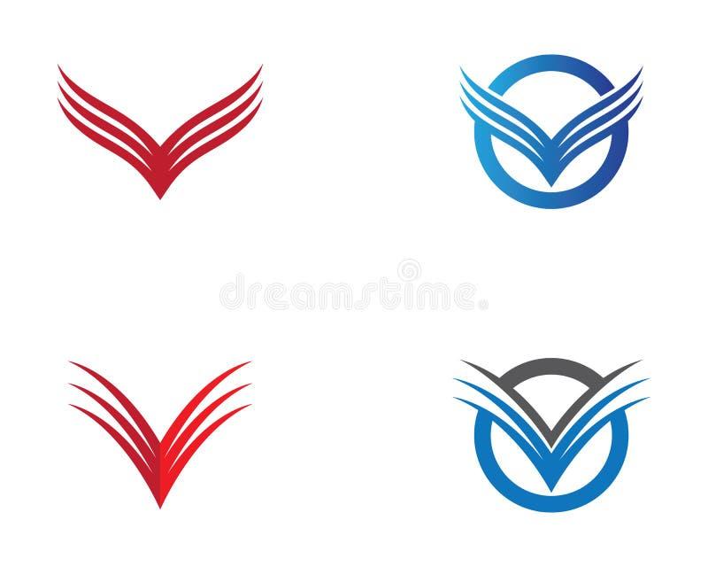 翼商标标志例证 库存例证