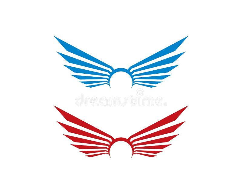 翼商标模板 向量例证