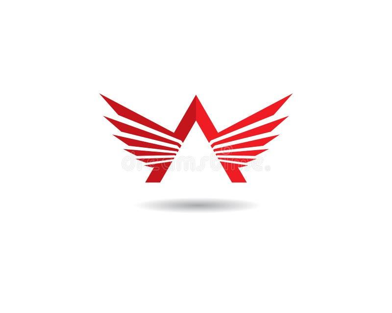 翼商标模板 皇族释放例证