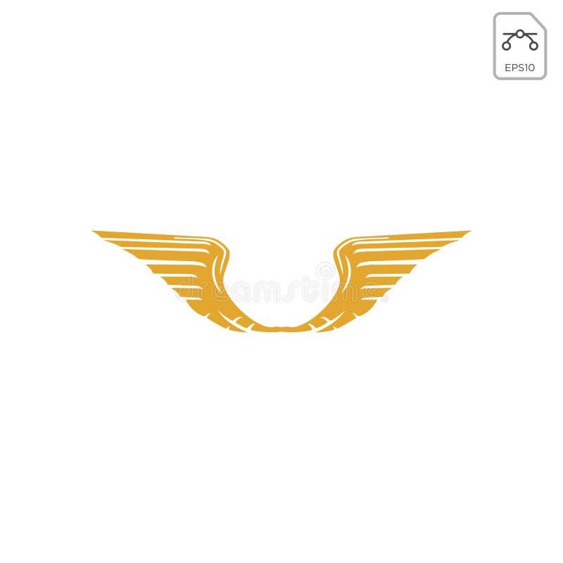 翼商标设计摘要传染媒介象隔绝了 皇族释放例证