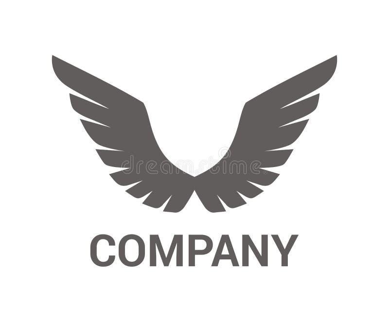 翼商标设计2 库存例证