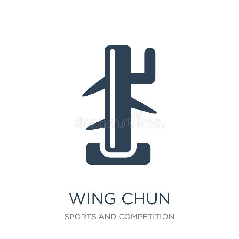 翼在时髦设计样式的chun象 翼在白色背景隔绝的chun象 翼chun导航象简单和现代舱内甲板 向量例证