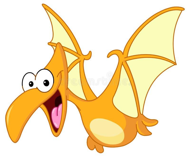 翼手龙恐龙 向量例证