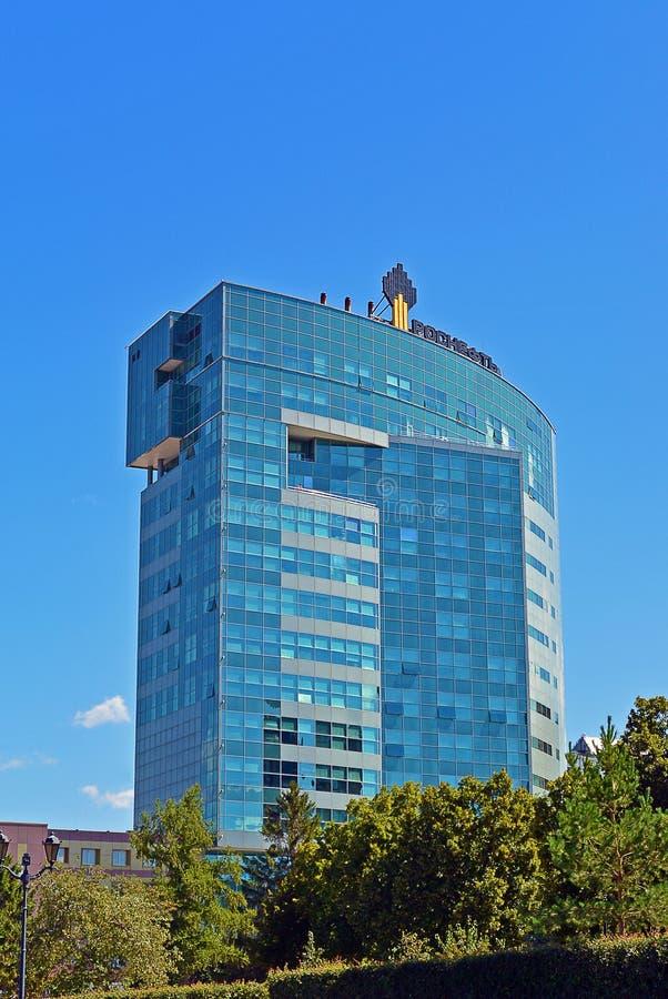翼果,办公楼的俄罗斯Rosneft 库存图片