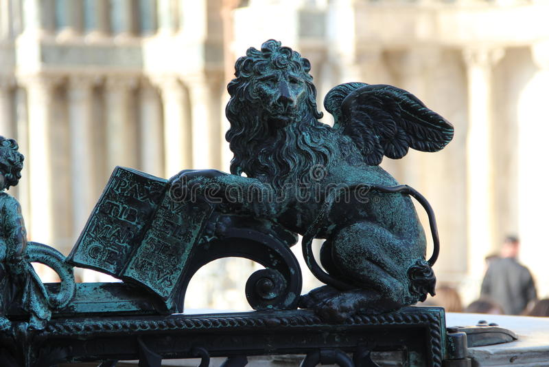 翼狮子 免版税图库摄影