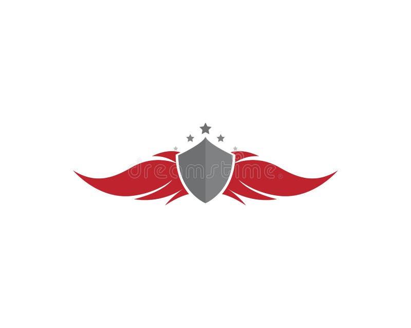 翼猎鹰商标模板传染媒介例证设计 库存例证