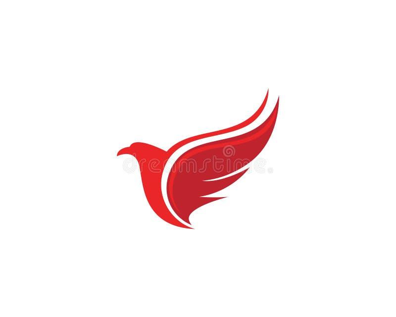 翼猎鹰商标模板传染媒介例证设计 向量例证