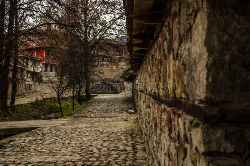 老Тraditional保加利亚房子在Koprivshtica,保加利亚 库存图片