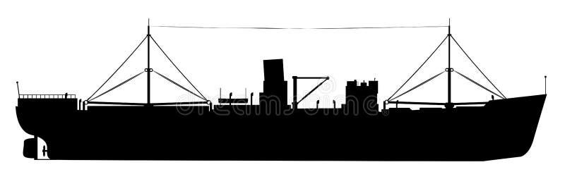 老不定期航行的货船 向量例证