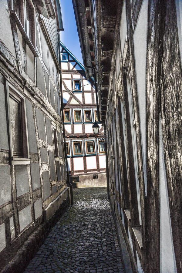 老中世纪房子在绍滕 免版税库存图片