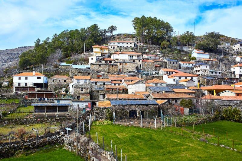 老中世纪村庄Drave在葡萄牙, Arouca,阿威罗 免版税库存照片