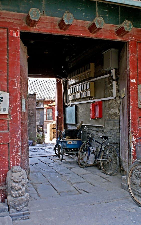 老中国庭院 库存图片