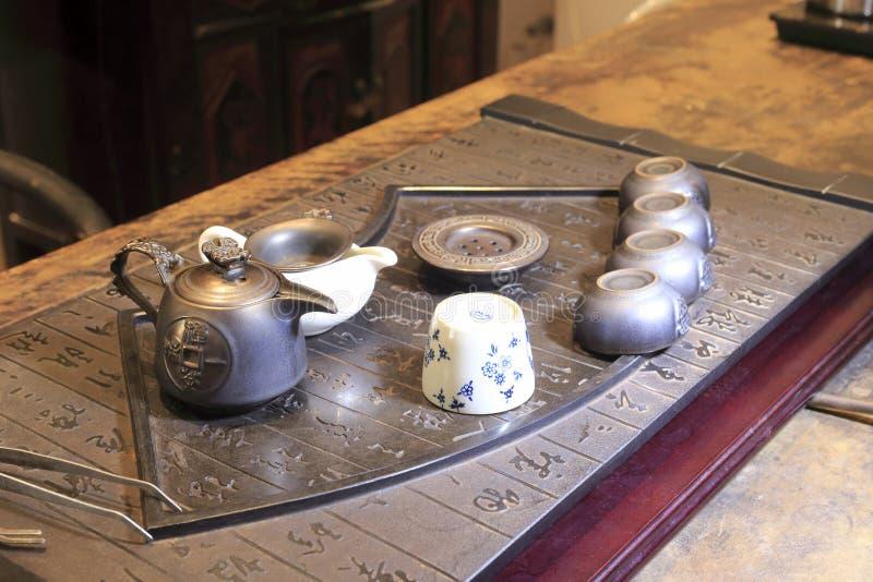 老中国茶壶 图库摄影