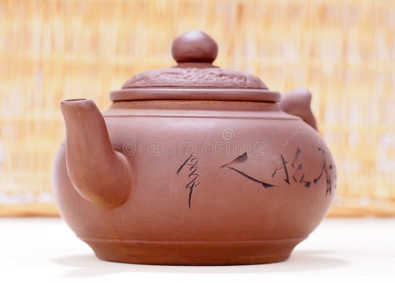 老中国茶壶 库存照片