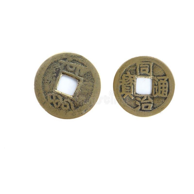 老中国铜币 库存照片