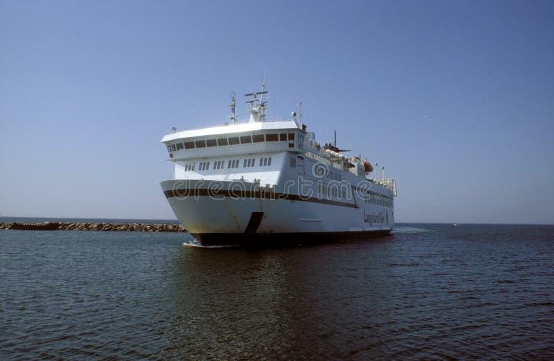 老丹麦白色渡轮 库存照片