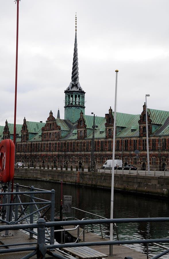 老丹麦语联交所 免版税库存照片