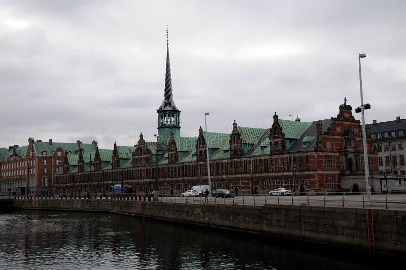 老丹麦语联交所 免版税库存图片