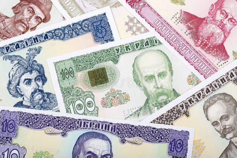 老乌克兰金钱,背景 免版税库存照片