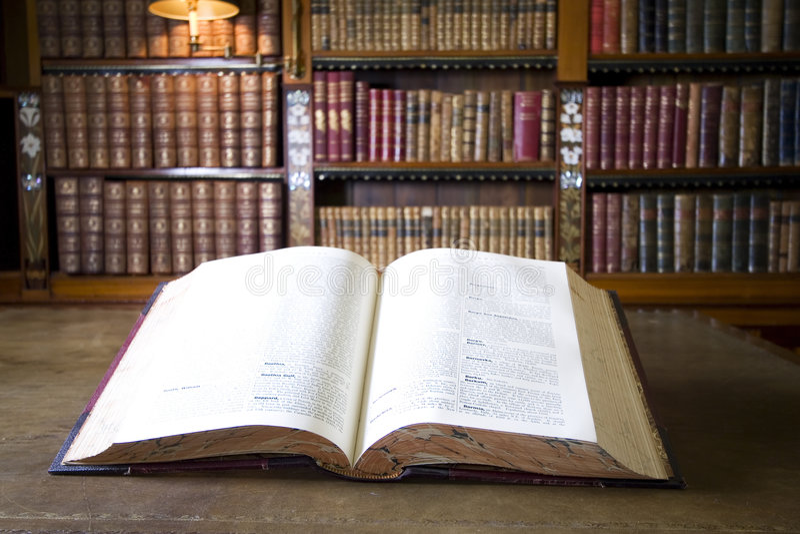 老书图书馆 库存图片
