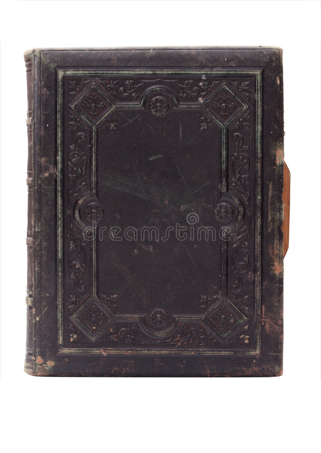 老书套皮革 免版税库存图片
