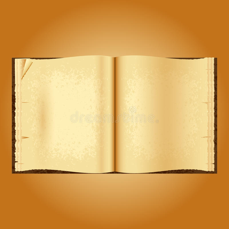 老书开张 起皱纹的被染黄的页 皇族释放例证