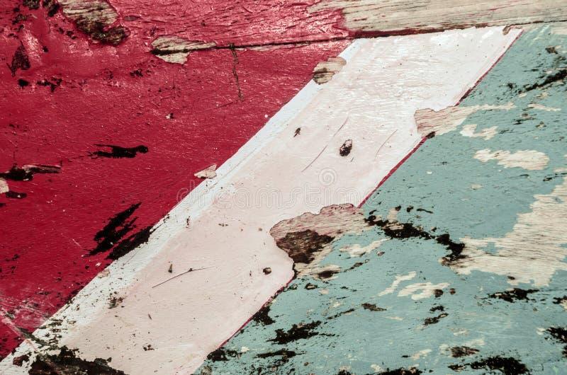 老五颜六色的被抓的木纹理 免版税库存图片