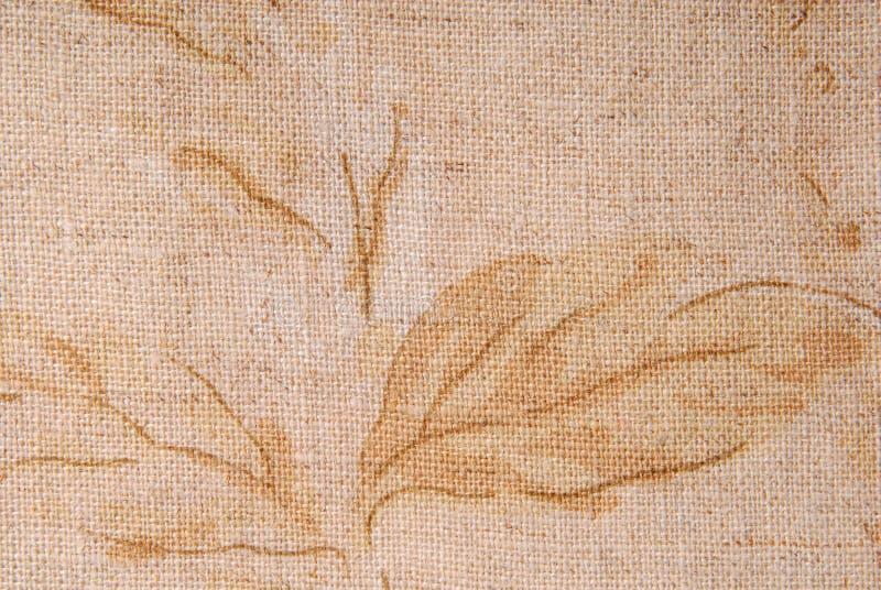 老亚麻制织品纹理 免版税库存照片
