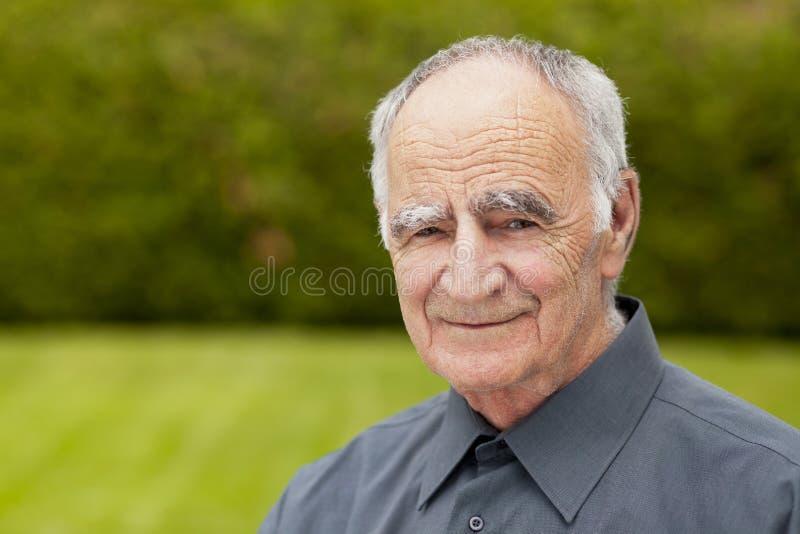 老人微笑 库存照片