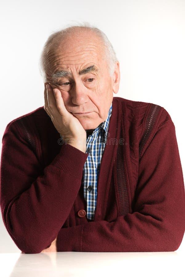 老人有问题 库存图片