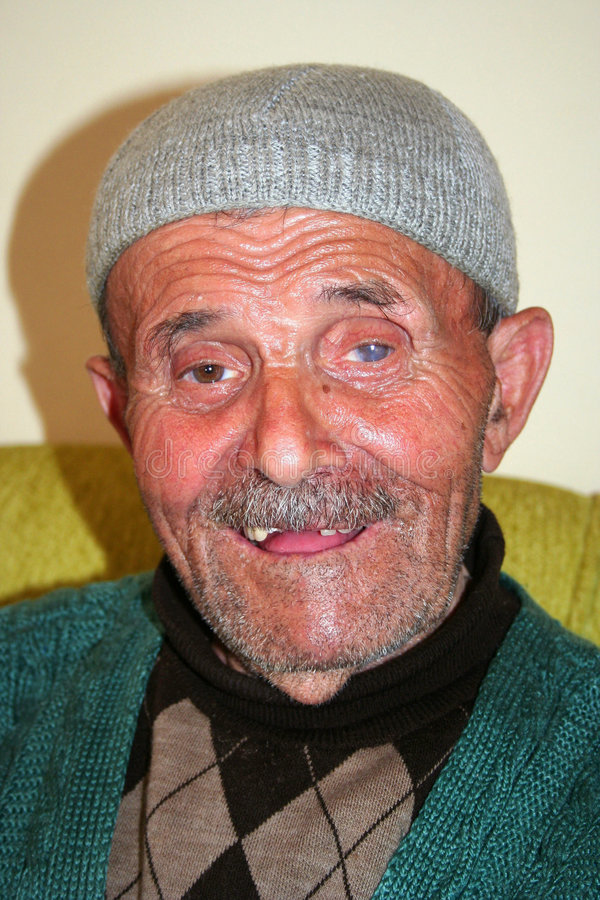老人穆斯林 库存照片